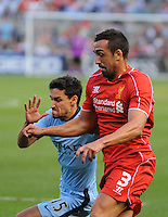 BRONX, NY - Wednesday July 30, 2014: The top two finishers from last year's Barclays Premier League square off in iconic Yankee Stadium as part of the 2014 Guinness International Champions Cup.