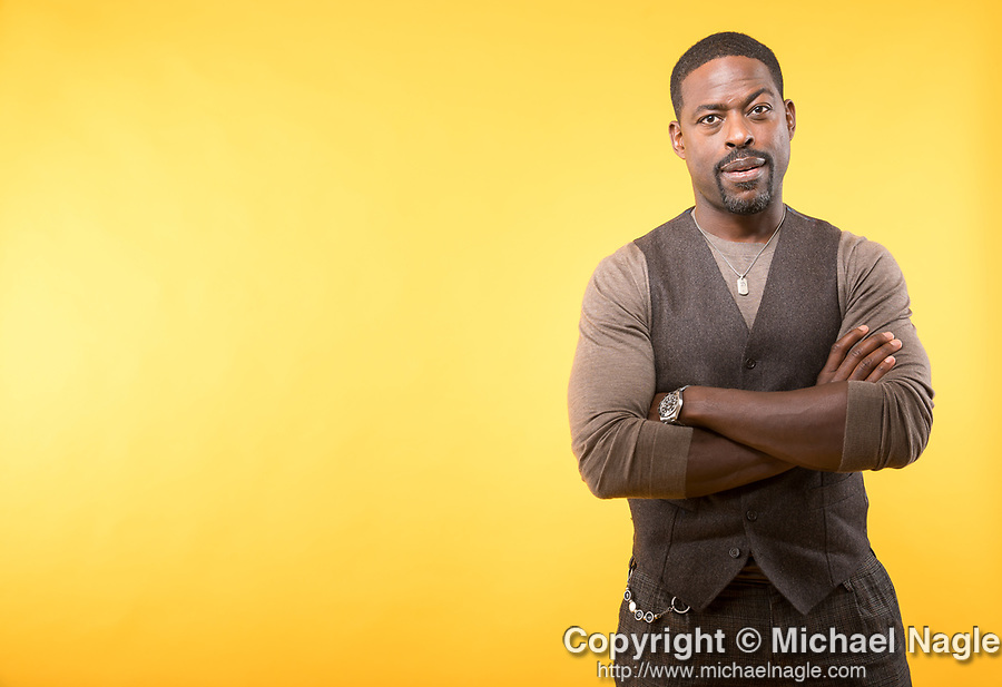 NEW YORK, NY — 10/15/19:  Actor Sterling K. Brown poses for a portrait at the James Hotel on Tuesday, October 15, 2019 in New York City.  Photograph by Michael Nagle