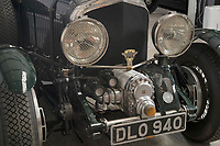 BNPS.co.uk (01202) 558833<br /> Pic: ZacharyCulpin/BNPS<br /> <br /> The vintage car is prepared for the auction<br /> <br /> A stunning recreation of a vintage Bentley Blower racing car has emerged for sale for £400,000.<br /> <br /> Just 55 of the supercharged 4.5 litre motors were built by the British marque in the late 1920s, specifically for the Le Mans 24 Hour Race. <br /> <br /> Just a handful exist today but so iconic were the elongated Bentleys that wealthy fans commission rebuilds of them today.<br /> <br /> The one coming up for auction now is based on the original chassis of a 1937 Bentley Park Ward Sports Saloon.