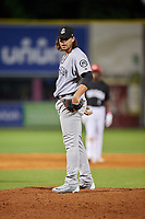 Jackson Generals relief pitcher Mason McCullough (44) looks in for the sign during a game against the Chattanooga Lookouts on May 9, 2018 at AT&T Field in Chattanooga, Tennessee.  Chattanooga defeated Jackson 4-2.  (Mike Janes/Four Seam Images)