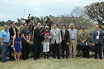 HOT SPRINGS, AR - FEBRUARY 20: #1 Gun Runner owners and trainers, and Florent Geroux, in winners circle after winning the Razorback Handicap at Oaklawn Park on February 20, 2017 in Hot Springs, Arkansas. (Photo by Justin Manning/Eclipse Sportswire/Getty Images)