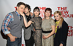 """Joe Tippett, Alex Wolff, Isabelle Fuhrman, Erica Schmidt, Abigail Breslin attend the Opening Night of The New Group World Premiere of """"All The Fine Boys"""" at the The Green Fig Urban Eatery on March 1, 2017 in New York City."""