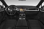 Stock photo of straight dashboard view of 2017 Volkswagen Touareg Sport 5 Door SUV Dashboard