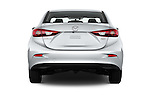 Straight rear view of 2018 Mazda Mazda3 Sport 4 Door Sedan Rear View  stock images