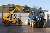 19.11.2020 Contractors crimping maize for dairy cattle feedstock<br /> ©Tim Scrivener Photographer 07850 303986<br />      ....Covering Agriculture In The UK....