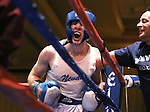 Nevada's Tristan Harriman reacts to the end of his bout against Army's Cody Dillard during a National Collegiate Boxing Association bout at the El Dorado Casino in Reno, Nev. on Friday, Feb. 5, 2016. <br /> Photo by Cathleen Allison