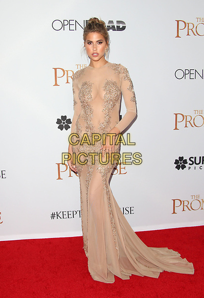 """HOLLYWOOD, CA - April 12: Kara Del Toro, At Premiere Of Open Road Films' """"The Promise"""" At TCL Chinese Theatre IMAX  In California on April 12, 2017. <br /> CAP/MPI/FS<br /> ©FS/MPI/Capital Pictures"""
