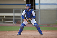 IMG Academy Ascenders catcher Sam Hunt during practice before a game on February 28, 2020 at IMG Academy in Bradenton, Florida.  (Mike Janes/Four Seam Images)