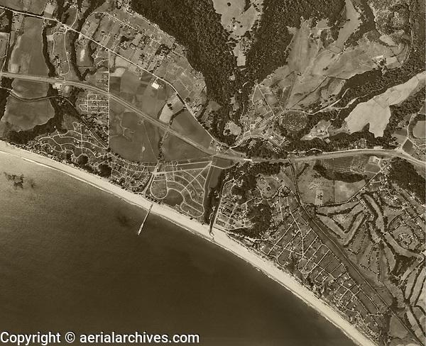 historical aerial photograph Aptos, Santa Cruz County, California, 1952