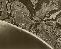 historical aerial photograph Aptos, Santa Cruz County, California, 1952