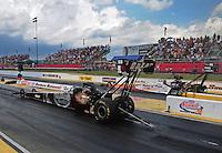 May 14, 2011; Commerce, GA, USA: NHRA top fuel dragster driver Larry Dixon during qualifying for the Southern Nationals at Atlanta Dragway. Mandatory Credit: Mark J. Rebilas-
