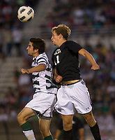 The number 5 ranked Charlotte 49ers play the University of South Carolina Gamecocks at Transamerica field in Charlotte.  Charlotte won 3-2 in the second overtime.  Snoopy Davidson (11), Tyler Gibson (10)