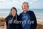 Enjoying a stroll after a swim in Ballyhjeigue beach on Easter Sunday, l to r: Catriona Goggin and Terrance Dineen