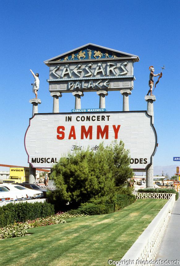 Las Vegas: Caesar's Palace--sign. Photo '79.