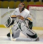 """5 January 2007: University of Vermont goaltender Mike Spillane (31) from Bow, NH, warms up prior to a Hockey East matchup against the University of New Hampshire Wildcats at Gutterson Fieldhouse in Burlington, Vermont. The UNH Wildcats defeated the UVM Catamounts 7-1 in front of a record setting 48th consecutive sellout at """"the Gut""""...Mandatory Photo Credit: Ed Wolfstein Photo.<br />"""