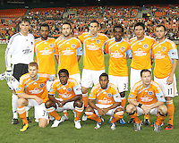 Starting eleven of the Houston Dynamo during an MLS match against D.C. United at RFK Stadium in Washington D.C. on September  25 2010. Houston won 3-1.