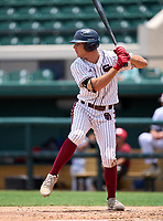 Stoneman Douglas Eagles Gavin Conticello (11) bats during the 42nd Annual FACA All-Star Baseball Classic on June 6, 2021 at Joker Marchant Stadium in Lakeland, Florida.  (Mike Janes/Four Seam Images)