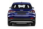 Straight rear view of 2022 Audi Q4-e-tron EV-S-Line 5 Door SUV Rear View  stock images