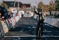 another victory for Tom Pidcock (GBR/U23/Telenet Fidea Lions)<br /> <br /> U23 Men's race<br /> Superprestige Gavere / Belgium 2017