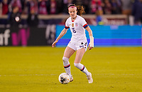 HOUSTON, TX - JANUARY 31: Rose Lavelle #16 of the Unites States dribbles with the ball during a game between Panama and USWNT at BBVA Stadium on January 31, 2020 in Houston, Texas.