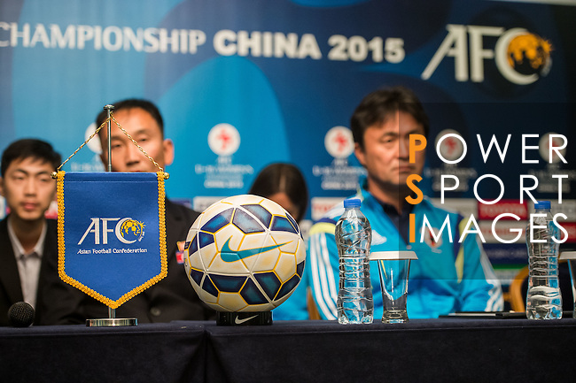 Team members of DPR Korea, Chinese Taipei, Japan and Uzbekistan attends the Pre Match Press Conference Group B during the AFC U-16 Women's Championship China 2015 at the Wuhan Jianguo Oriental Hotel on 04 November 2015 in Wuhan, China. Photo by Aitor Alcalde / Power Sport Images