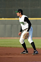 Dayton Dragons first baseman Joey Votto during a game against the Cedar Rapids Kernels circa May 2003 at Fifth Third Field in Dayton, Ohio.  (Mike Janes/Four Seam Images)