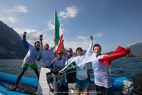 The Italian Optimist squad of Quan ACardi, Alessandro Cirinei, Alex Demurtas, Lorenzo Ghirotti and Lisa Vucettidriano were on top form