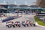 KUALA LUMPUR, MALAYSIA - OCTOBER 25:  Riders in action at the start of the 250cc race during the Malaysian MotoGP, which is round 16 of the MotoGP World Championship at the Sepang Circuit on October 25, 2009 in Kuala Lumpur, Malaysia. Photo by Victor Fraile / The Power of Sport Images