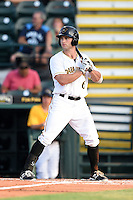 Bradenton Marauders outfielder Taylor Lewis (6) at bat during a game against the Jupiter Hammerheads on June 25, 2014 at McKechnie Field in Bradenton, Florida.  Bradenton defeated Jupiter 11-0.  (Mike Janes/Four Seam Images)