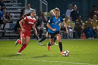 Kansas City, MO - Saturday May 27, 2017: Arielle Ship, Katie Bowen during a regular season National Women's Soccer League (NWSL) match between FC Kansas City and the Washington Spirit at Children's Mercy Victory Field.