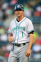 Daytona Tortugas manager Eli Marrero (1) during a game against the Fort Myers Miracle on June 17, 2015 at Hammond Stadium in Fort Myers, Florida.  Fort Myers defeated Daytona 9-5.  (Mike Janes/Four Seam Images)