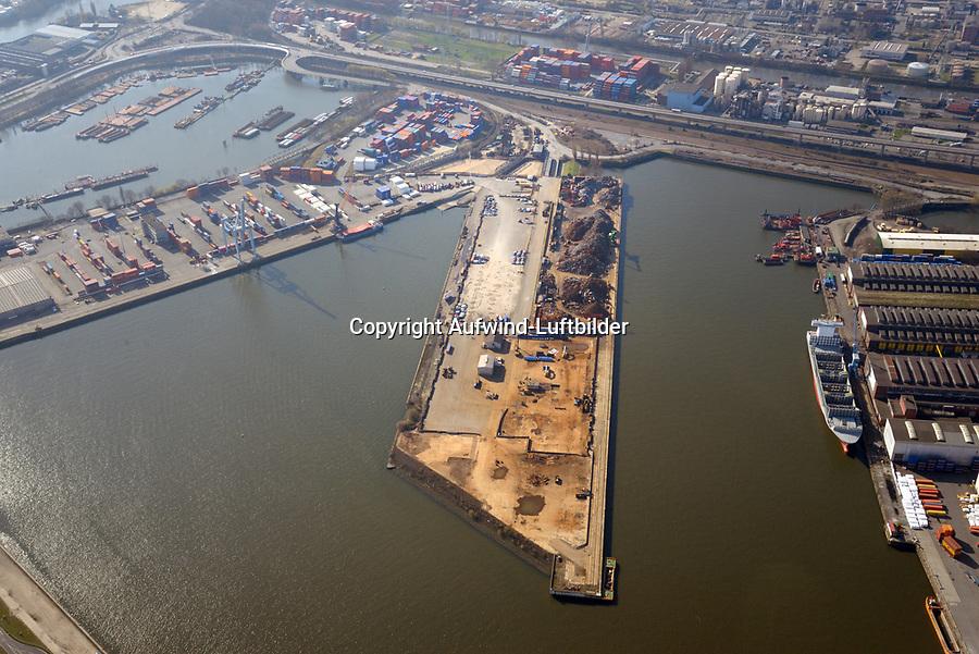Mittlerer Freihafen, Travehafen, Oderhafen: EUROPA, DEUTSCHLAND, HAMBURG 02.04.2016 Mittlerer Freihafen, Travehafen, Oderhafen