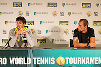 Rotterdam, The Netherlands, Februari 9, 2016,  ABNAMROWTT, Robin Haase (NED), Thiemo de Bakker (NED)<br /> Photo: Tennisimages/Henk Koster