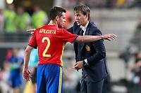 Spain's coach Julen Lopetegui with Cesar Azpilicueta during international friendly match. June 7,2017.(ALTERPHOTOS/Acero) (NortePhoto.com) (NortePhoto.com)