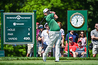 5th June 2021; Dublin, Ohio, USA; Sung Kang (USA) watches his tee shot on 1 during the Memorial Tournament Rd3 at Muirfield Village Golf Club on June 5, 2021 in Dublin, Ohio.