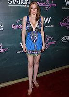 HOLLYWOOD, LOS ANGELES, CA, USA - AUGUST 28: Maitland Ward arrives at the Benchwarmer Back To School Celebration to Benefit Children of the Night held at Station Hollywood at the W Hotel Hollywood on August 28, 2014 in Hollywood, Los Angeles, California, United States. (Photo by Xavier Collin/Celebrity Monitor)