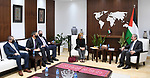 Palestinian Prime Minister Mohammed Ishtayeh meets with Alire Grubbs, USAID Mission Director in the West Bank and Gaza Strip (USAID), in the West Bank city of Ramallah, on October 12, 2021. Photo by Prime Minister Office