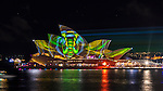Sydney Opera House illuminated during Vivid Light Festival