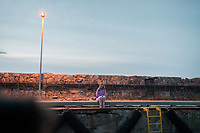 Estland, Strand der Insel Naissaar [beim ersten Nargen Gesangs-Festival] 28.06.2014<br /> <br /> Engl.: Europe, the Baltic, Estonia, Naissaar island, first Naissaar Song Celebration, song festival, culture, woman, 28 June 2014