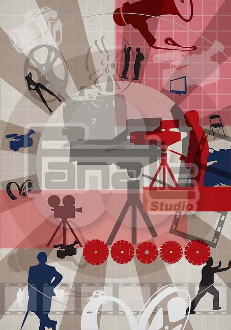Montage of film industry