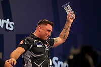 9th October 2021; Morningside Arena, Leicester, England; PDC BoyleSports Darts World Grand Prix finals ; Gerwen Price with the runners up trophy