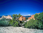 Pikes Peak and Garden of the Gods State Park, Colorado Springs, Colorado.
