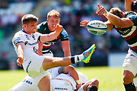 5th June 2021; Mattioli Woods Welford Road Stadium, Leicester, Midlands, England; Gallagher Premiership Rugby, Leicester Tigers versus Bristol Bears; Harry Randall of Bristol Bears box-kicks clear at a ruck