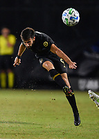 LAKE BUENA VISTA, FL - JULY 18: Diego Rossi #9 of LAFC passes the ball during a game between Los Angeles Galaxy and Los Angeles FC at ESPN Wide World of Sports on July 18, 2020 in Lake Buena Vista, Florida.