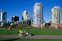 Yaletown, Vancouver, BC, British Columbia, Canada - High Rise Apartment and Condominium Buildings overlooking David Lam Park, Downtown City, Autumn / Fall