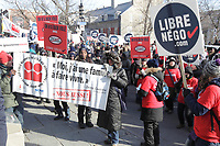 Manifestation contre les mesures d'austérités du gouvernement Provincial. 2014<br /> <br /> Photo : Agence Quebec Presse