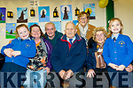 L-R Kayleigh Flanagan, Pamela&Richard Roche, John&Ina Mulhall, Joan Crowley with Siún Mulhall Crowley at the Presentation Primary school, Tralee, Grandparents day last Tuesday, Feb 11, at the school,