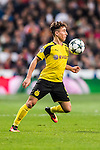 Emre Mor of Borussia Dortmund in action during the 2016-17 UEFA Champions League match between Real Madrid and Borussia Dortmund at the Santiago Bernabeu Stadium on 07 December 2016 in Madrid, Spain. Photo by Diego Gonzalez Souto / Power Sport Images