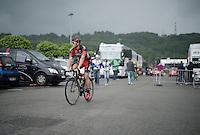 Jempy Drucker (LUX/BMC) off to the start<br /> <br /> stage 4: Hotel Verviers - La Gileppe (Jalhay/BEL) 186km <br /> 30th Ster ZLM Toer 2016