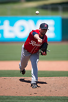 Tacoma Rainiers relief pitcher Shawn Armstrong (43) delivers a pitch during a Pacific Coast League game against the Sacramento RiverCats at Raley Field on May 15, 2018 in Sacramento, California. Tacoma defeated Sacramento 8-5. (Zachary Lucy/Four Seam Images)